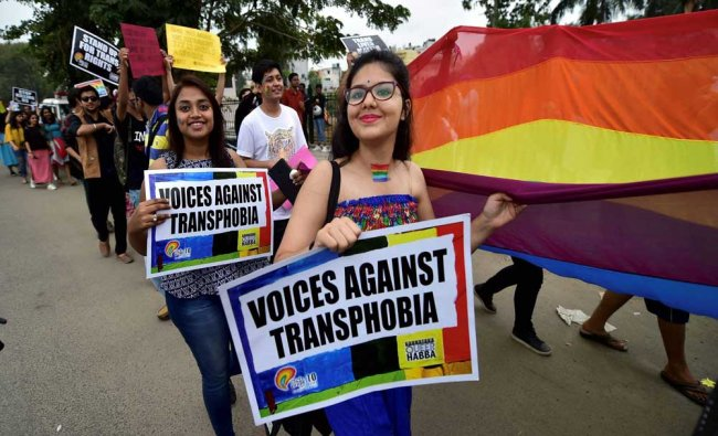Lesbian, Gays, Bi-Sexual and Transgenders (LGBT) people along with their supporters take...