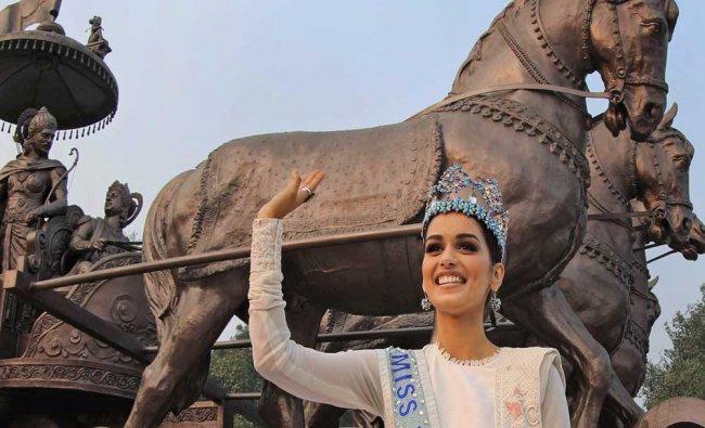 Miss World 2107, Manushi Chhillar at the International Gita Mahotsav in Kurukshetra...