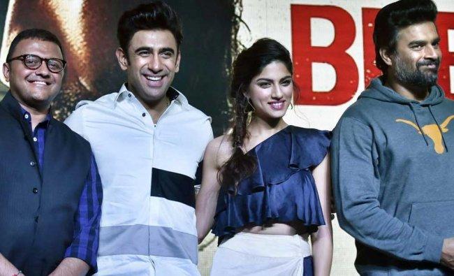 R Madhavan, Amit Sadh, Sapna Pabbi and Vijay Subramaniamduring the trailer launch...