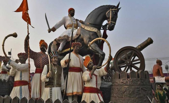 The tableau of Maharashtra for the Republic Day parade, during a press preview in New Delhi...