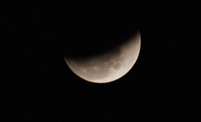 Lunar Eclipse as seen in the sky from Patna on Wednesday evening...