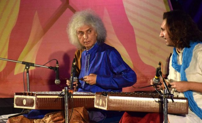 Noted Santoor Player Pandit Shiv Kumar Sharma and his Son Rahul Sharma performing Jon the first day