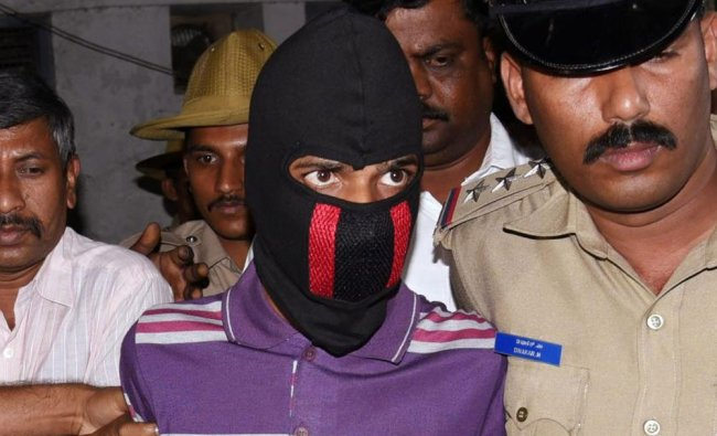 Tejraj Sharma,accused who stabbed Karnataka Lokayukta Justice Vishwanath Shetty at his office...