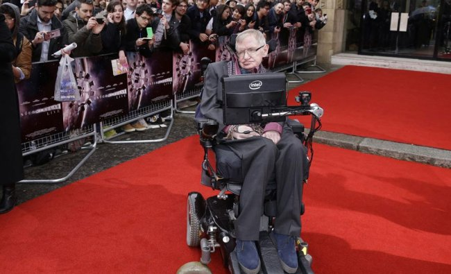 In this March 30, 2015 file photo, Professor Stephen Hawking poses for photographers upon...