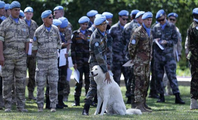 Peacekeeper from 41 different national contingents that make up the United Nations Interim...