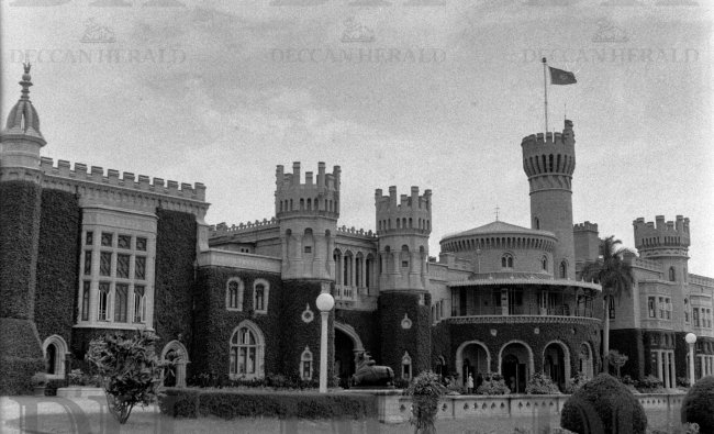 The Bangalore Palace was built by the Wodeyars in the Tudor style of architecture. DH Photo