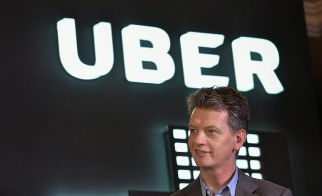 "UBER Chief Operating Officer Barney Harford during the launch of the Boston Consulting Group's study ""'Unlocking Cities: The Impact of Ridesharing Across India"" in New Delhi, on Wednesday. PTI"