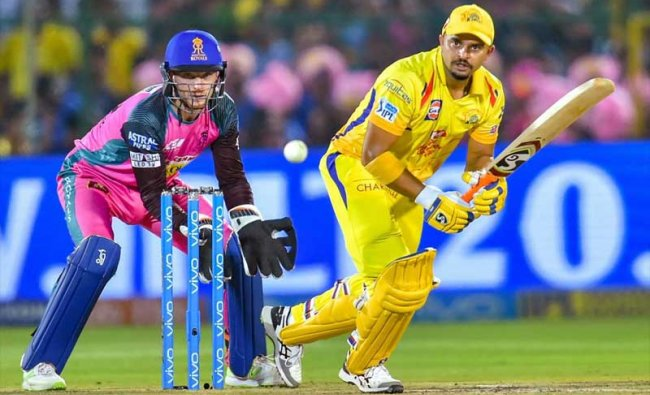 Chennai Super Kings\' Shane Watson plays a shot against Rajasthan Royals during an IPL T20 cricket match in Jaipur on Friday. PTI Photo