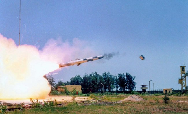BrahMos, supersonic cruise missile successfully test fired as part of service life extension program, from the Integrated Test Range (ITR), in Balasore, on Monday. PTI Photo