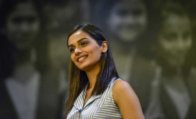 Miss World 2017 Manushi Chillar during an event to aware girls about menstrual hygiene in New Delhi, on Monday, 28 May 2018. PTI