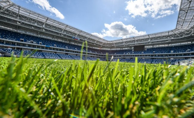 A view of the pitch and the stands of the Kaliningrad Stadium in Kaliningrad. Source: Mladen ANTONOV / AFP