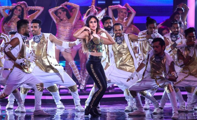 Bollywood actor Kareena Kapoor Khan performs during Miss India 2018 pageant, in Mumbai. PTI Photo