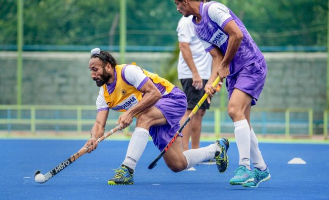 Indian Men\'s Hockey Team Midfielder Sardar Singh during a training session ahead of their match against Pakistan in the opening match at Rabobank Men\'s Hockey Champions Trophy, in Breda, Netherlands on Friday, June 22, 2018. PTI