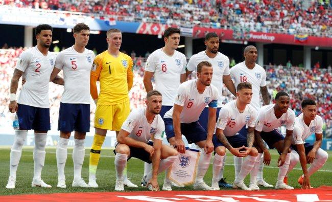 Soccer Football - World Cup - Group G - England vs Panama - Nizhny Novgorod Stadium, Nizhny Novgorod, Russia - June 24, 2018 England players pose for a team group photo before the match REUTERS