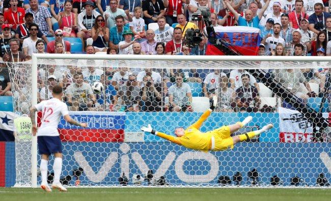Soccer Football - World Cup - Group G - England vs Panama - Nizhny Novgorod Stadium, Nizhny Novgorod, Russia - June 24, 2018 England\'s Jordan Pickford in action REUTERS