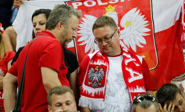World Cup - Group H - Poland vs Colombia - Kazan Arena, Kazan, Russia - June 24, 2018 Poland fans look dejected at the end of the match. Reuters.