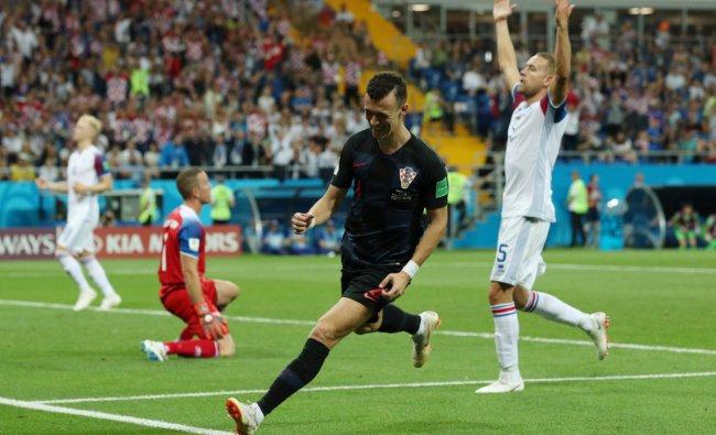 World Cup - Group D - Iceland vs Croatia - Rostov Arena, Rostov-on-Don, Russia - June 26, 2018 Croatia\'s Ivan Perisic celebrates scoring their second goal. Reuters