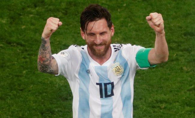 World Cup - Group D - Nigeria vs Argentina - Saint Petersburg Stadium, Saint Petersburg, Russia - June 26, 2018 Argentina\'s Lionel Messi celebrates after the match. Reuters