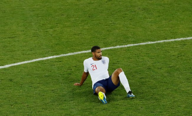 World Cup - Group G - England vs Belgium - Kaliningrad Stadium, Kaliningrad, Russia - June 28, 2018 England\'s Ruben Loftus-Cheek reacts after the match. Reuters