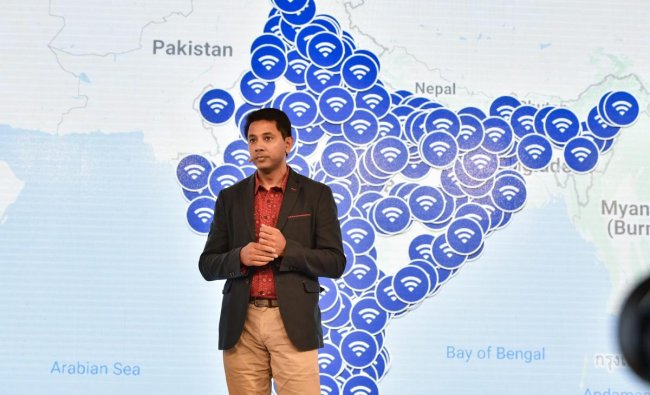 Caesar Sengupta, Vice President of Product Management at Google, speaks at the fourth edition of Google for India event, in New Delhi on Tuesday, Aug. 28, 2018. PTI