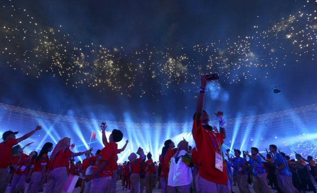 Closing ceremony of 2018 Asian Games at GBK Main Stadium, Jakarta, Indonesia. Reuters