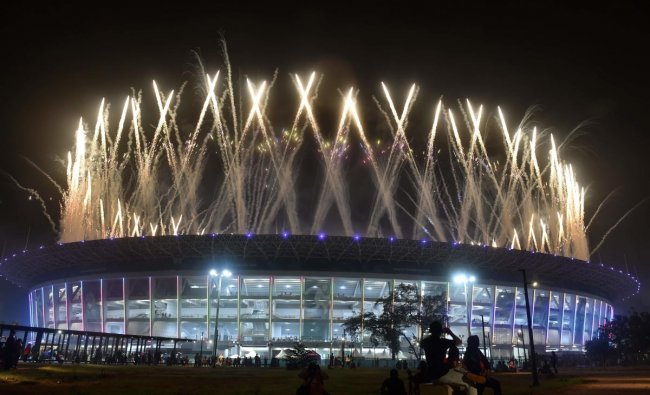 Closing ceremony of 2018 Asian Games at GBK Main Stadium, Jakarta, Indonesia. AFP