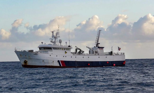 Kochi: In this handout photo, is seen French shipping vessel, Osiris, which rescued Commander Abhilash Tomy of the Indian Navy, stranded in the south Indian Ocean, in Kochi, Monday, Sept 24, 2018. (PTI Photo)