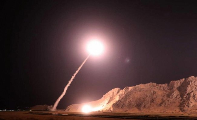 In this photo released on Monday, Oct. 1, 2018, by the Iranian Revolutionary Guard, a missile is fired from city of Kermanshah in western Iran targeting the Islamic State group in Syria. (AP/PTI Photo)
