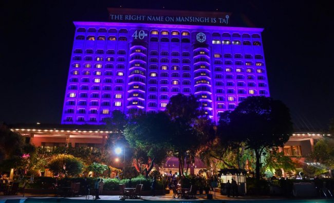 A view of Hotel Taj Mahal as they celebrate 40 years of the hotel, in New Delhi. PTI