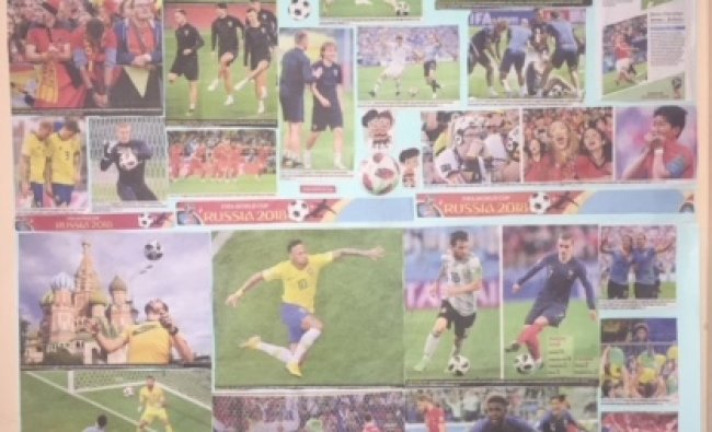 Collage of pages from DH covering FIFA World Cup 2018. From Vimala Rao\'s collection.