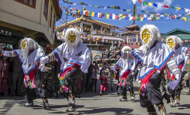 Artists perform during the inaugural ceremony of 6th Tawang Festival 2018 in Tawang, Arunachal Pradesh, Friday, Oct 26, 2018. (PTI Photo)