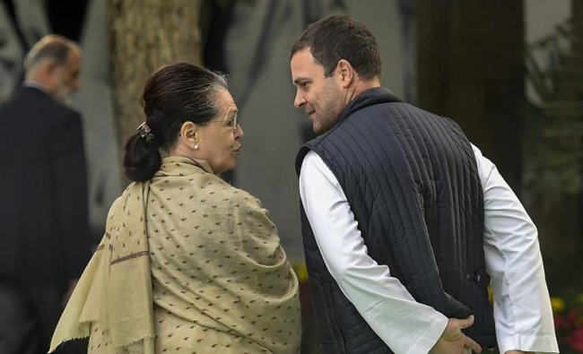 Former Congress President Sonia Gandhi and Congress President Rahul Gandhi leave after attending a prayer meeting at the memorial of former prime minister Indira Gandhi on her 34th death anniversary at Indira Gandhi Memorial, in New Delhi, Wednesday, Oct 31, 2018. (PTI Photo/Kamal Singh)