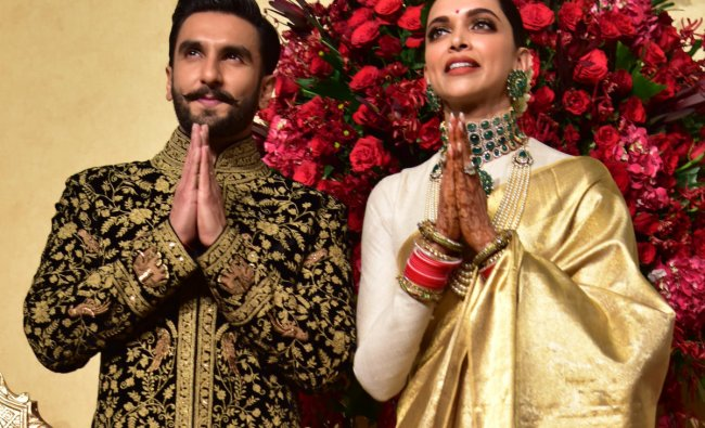 Deepika Padukone and Ranveer singh Wedding Reception at Leelapalace in Bengaluru on Wednesday. DH photo