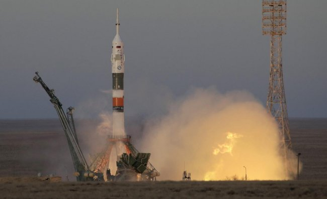 The Soyuz-FG rocket booster with Soyuz MS-11 space ship carrying a new crew to the International Space Station, ISS, blasts off at the Russian leased Baikonur cosmodrome, Kazakhstan. (AP/PTI Photo)
