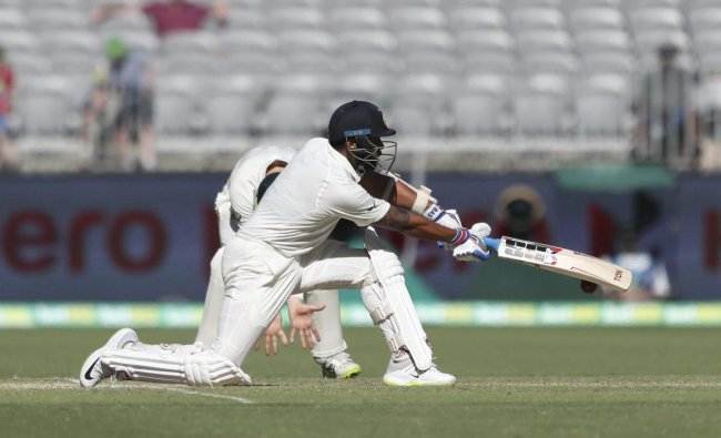 India\'s Murali Vijay bats during play in the second cricket test between Australia and India in Perth, Australia, Monday, Dec. 17, 2018. AP/PTI