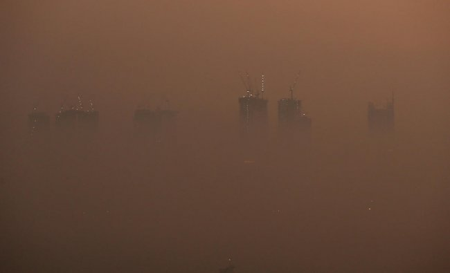 A general view of high-rise buildings shrouded by smog during in Mumbai. (Reuters Photo/Francis Mascarenhas)