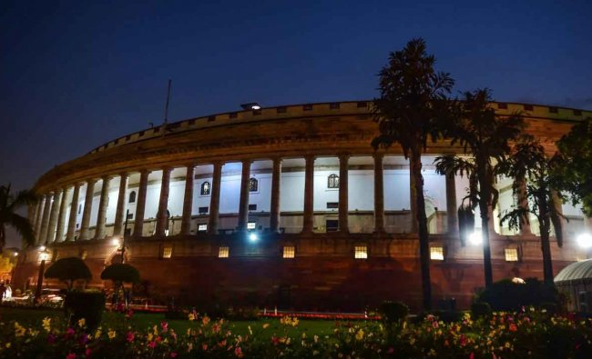 A view of Parliament House, in New Delhi, Thursday, Jan. 31, 2019. (PTI Photo)