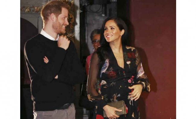 Britain\'s Prince Harry and Meghan, Duchess of Sussex during a visit to the Old Vic Theatre in Bristol, England, Friday, Feb. 1, 2019. Credit: AP/PTI