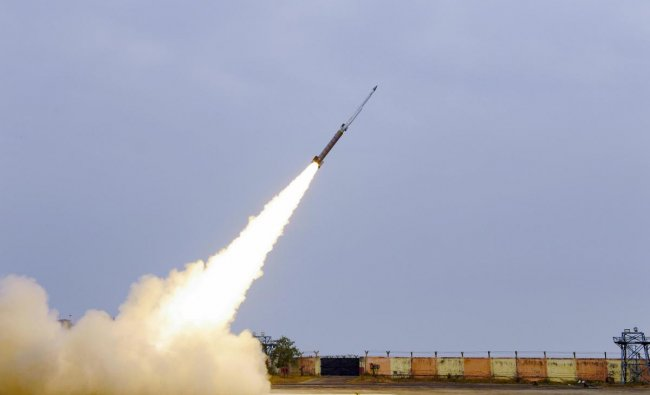 Defence Research and Development Organisation (DRDO) flight tests the second indigenously developed 'Solid Fuel Ducted Ramjet (SFDR)' propulsion based missile system from ITR, Chandipur, Friday, Feb 8, 2019. (PTI Photo)