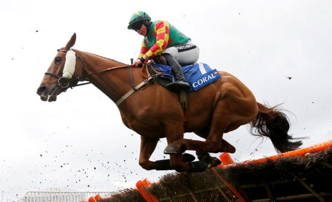 Horse Racing - Cheltenham Festival - Cheltenham Racecourse, Cheltenham, Britain - March 13, 2019 Lil Rockerfeller ridden by Bryony Frost during the 2.50 Coral Cup Handicap Hurdle Action Images via Reuters/Paul Childs