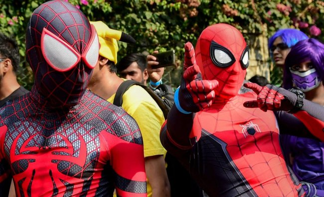People dressed up before Cosplay Walk 2019, in Bengaluru, Sunday, March 24, 2019. (PTI Photo)