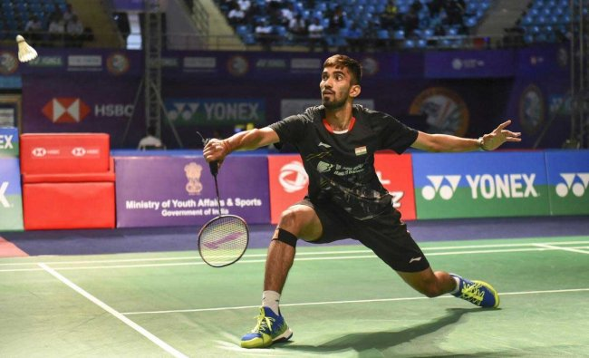 r Srikanth Kidambi returns a shot to Hong Kong\'s Vincent Wong Wing Ki during the first round of men\'s singles badminton match, at the Yonex-Sunrise India Open 2019 in New Delhi, Wednesday, March 27, 2019. Kidambi won the match by 21-16 18-21 21-19. (PTI Photo)