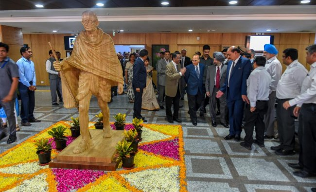 Chief Justice Delhi High Court Rajendra Menon with other High Court judges during the inauguration of Rouse Avenue Court Complex, in New Delhi, Monday, April 8, 2019. (PTI Photo)