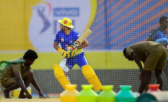 CSK player Suresh Raina during a training session ahead of the Indian Premier League 2019 (IPL T20) cricket match between Chennai Super Kings (CSK) and Kolkata Knight Riders (KKR) at MAC Stadium in Chennai, Monday, April 8, 2019. (PTI Photo)