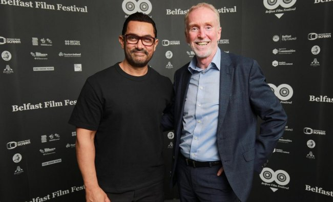 Belfast: Bollywood actor Aamir Khan being welcomed for the event 'In Conversation' at the Belfast Film Festival in Belfast, Tuesday, April 16, 2019. PTI