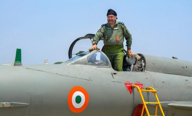 Tiruppur: Chief of the Air Staff, Air Chief Marshal BS Dhanoa after a sortie in the supersonic jet MiG-21 at AFS Sulur, Tiruppur district of Tamil Nadu, Friday, May 17, 2019. PTI