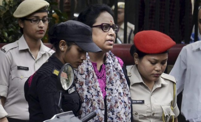 Guwahati: Jahnabi Saikia, Assamese female actress accused in the 15th May Guwahati grenade blast case being produced before the CJM Court, in Guwahati, Friday, May 17, 2019. PTI
