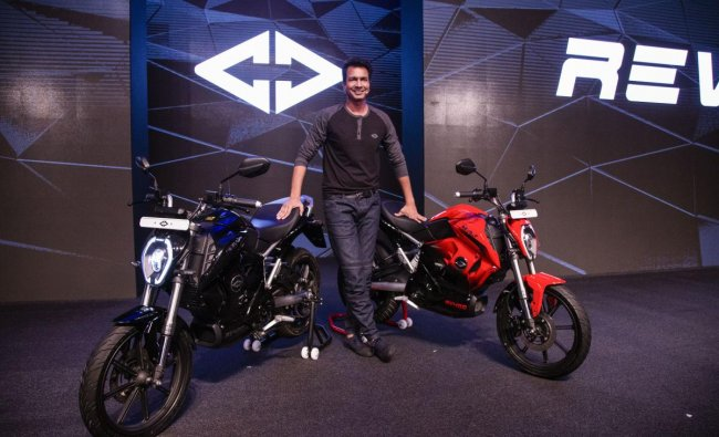 Rahul Sharma, Founder and Chief Revolutionary Officer of Revolt Intellicorp Pvt. Ltd, during the launch of India\'s first AI-enabled motorcycle Revolt RV400, in New Delhi, Tuesday, June 18, 2019. PTI