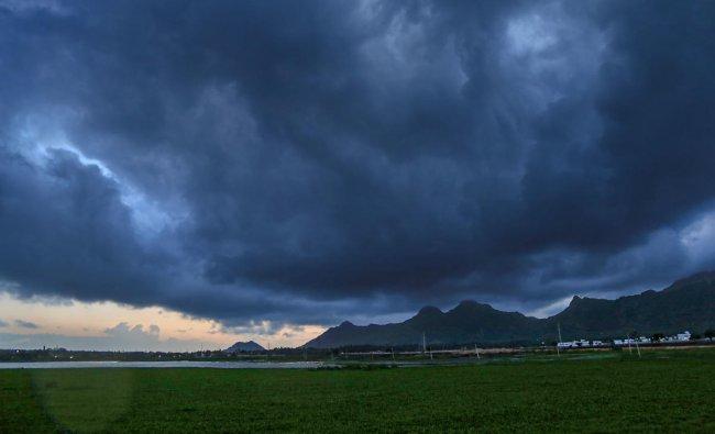 Dark clouds seen in Kanyakumari district, Thursday, July 4, 2019. (PTI Photo)