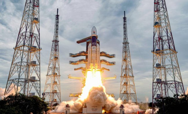 India's second Moon mission Chandrayaan-2 lifts off onboard GSLV Mk III-M1 launch vehicle from Satish Dhawan Space Center at Sriharikota in Andhra Pradesh. (PTI Photo)